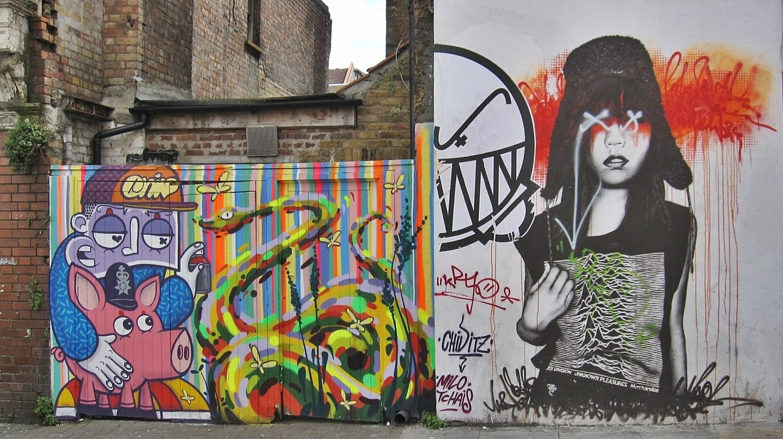 Picture of streetart around Brick Lane