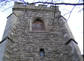 The abandoned  St Lawrences Church in Brentford