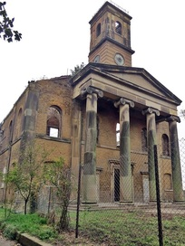 The derelict Sheerness Dockyard Church closed in 1970 and suffered a devastating fire in 2001