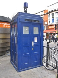 police box was erected outside the Earl's Court tube station equipped with CCTV cameras and a telephone to contact police.