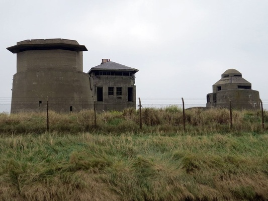 Picture of derelict Martello Battery, Sheerness, Isle of Sheppey