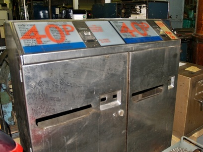 Old tube ticket machines
