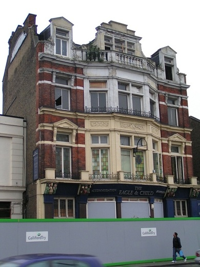 The Eagle & Child pub, Woodgrange Rd, Forest Gate E7 is now Raymond Chadburn flats