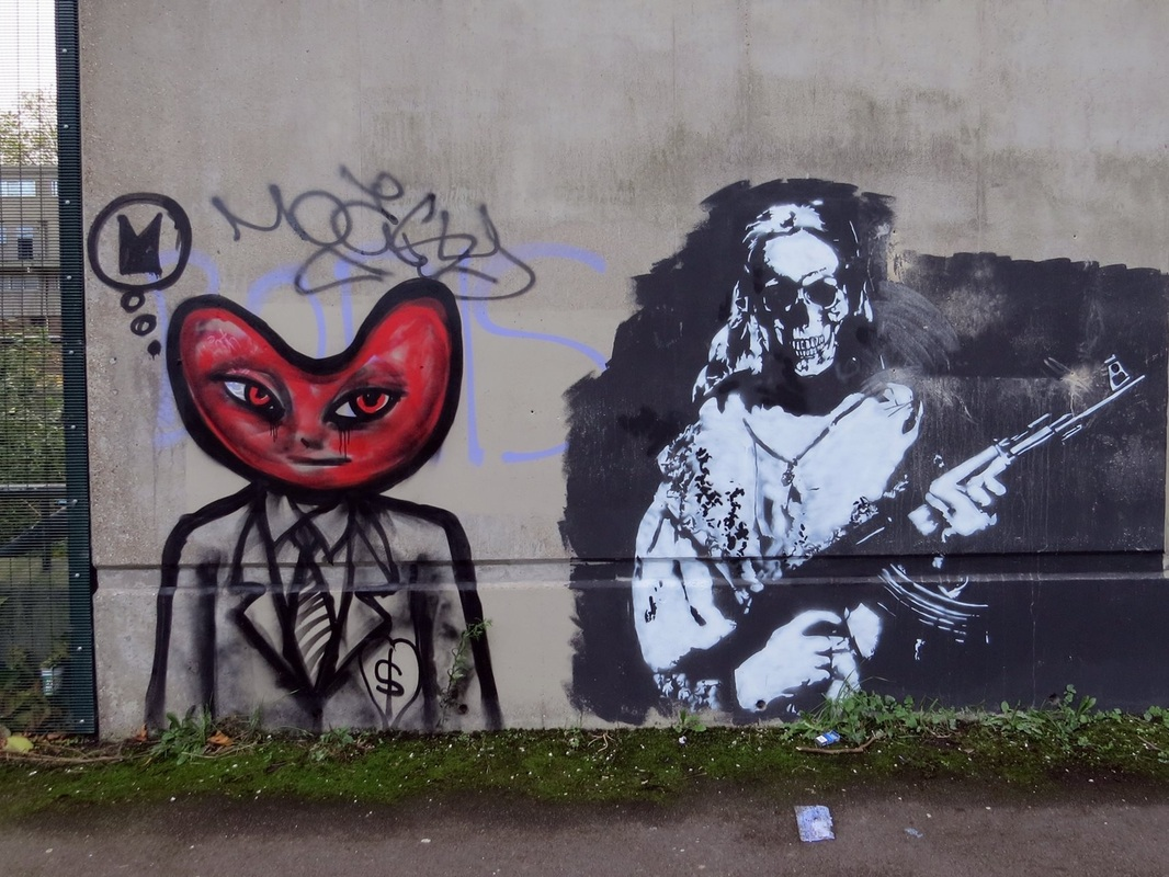 streetart on the derelict Heygate Estate in South London near the Elephant & Castle