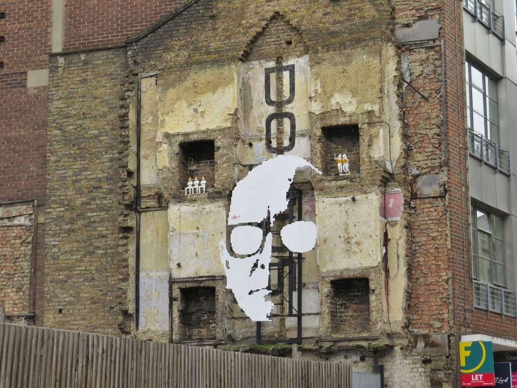 Greg Shapter installation. The Domus Art Wall ,Clerkenwell, EC1 . Paul Talling (Derelict London)