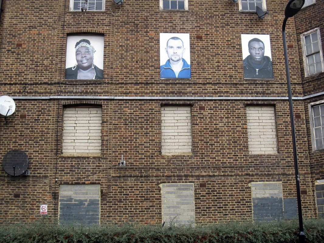 I am Here by Fugitive Images on empty flats on Haggerston estate in East London