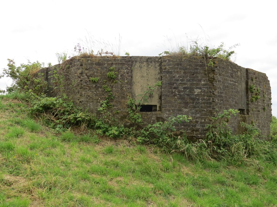 Picture of abandoned pillbox for the Field Army to defend in the event of invasion.
