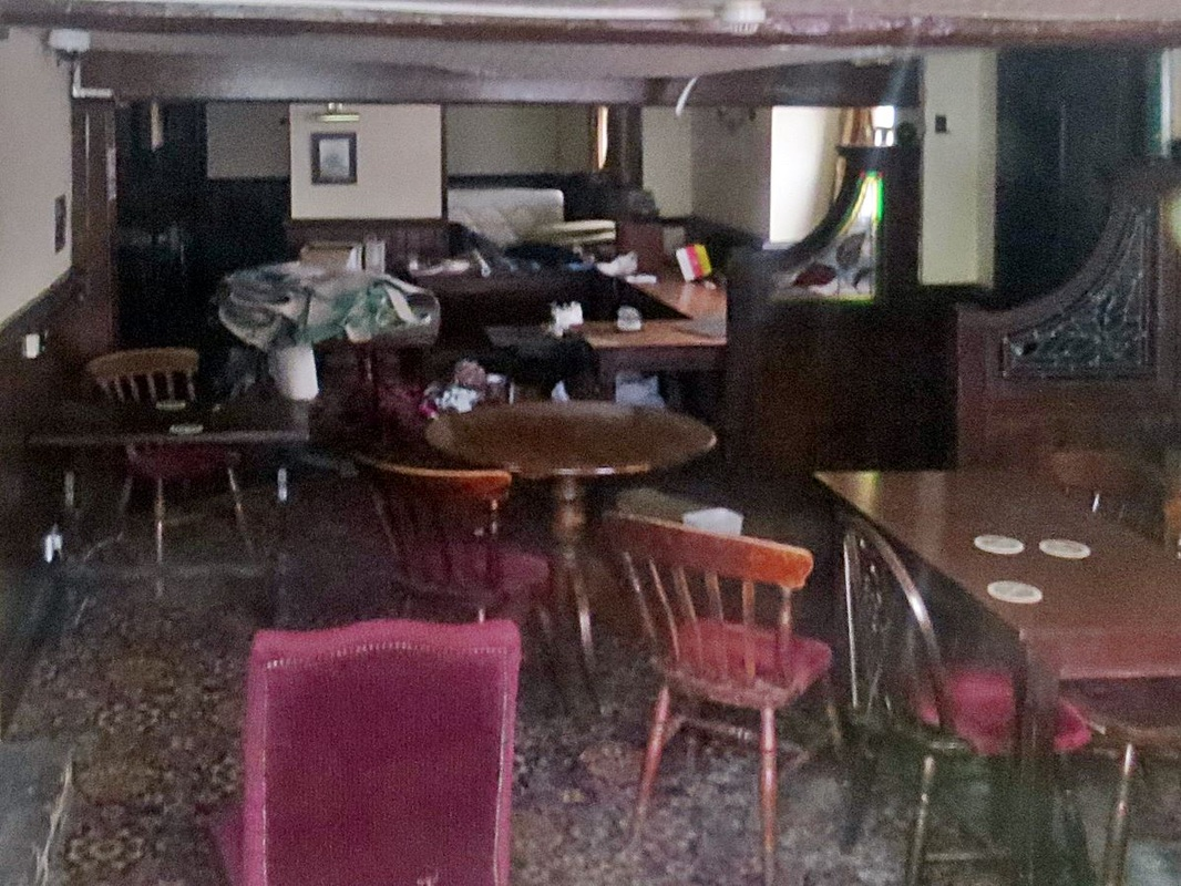 Inside the abandoned Two Brewers in Darfford. Another lost pub.