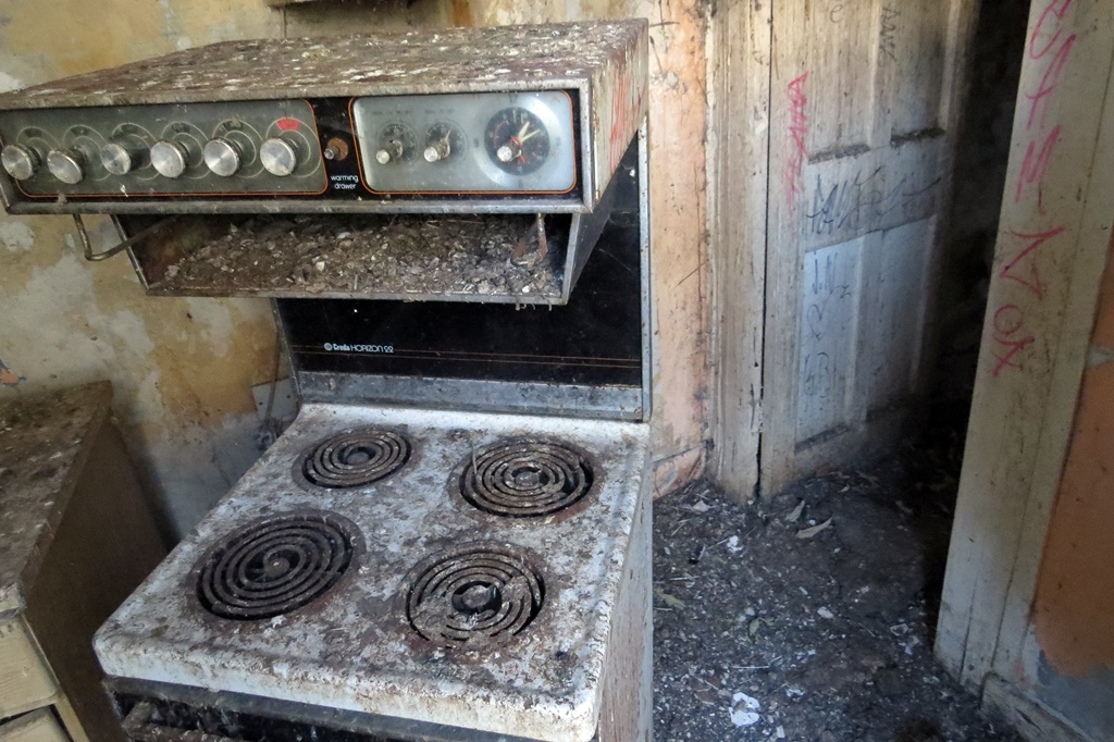 Abandoned kitchen in Dirty Dartford on Lowfield Street