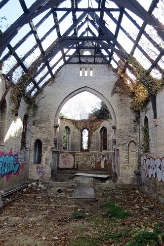 Derelict ​​Dartford Workhouse Chapel gutted by fire