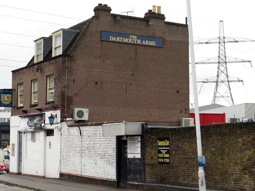 Dartmouth Arms in Canning Town now Pier One Nightspot