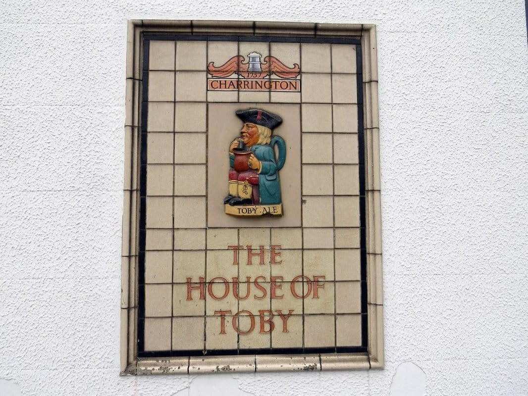 House of Toby tiling on defunct pub in Newham East London