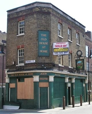 The Old House at Home in Shadwell. Another result in the decline of the local drinking culture