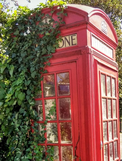 classic domed design K2 telephone box designed by Sir Giles Gilbert Scott