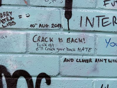 The Libertines Crack is Back graffiti in East London