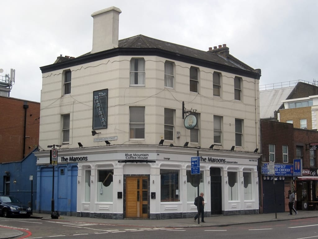 Mariners (aka Kings Arms) in Limehouse is now a Caribbean restaurant