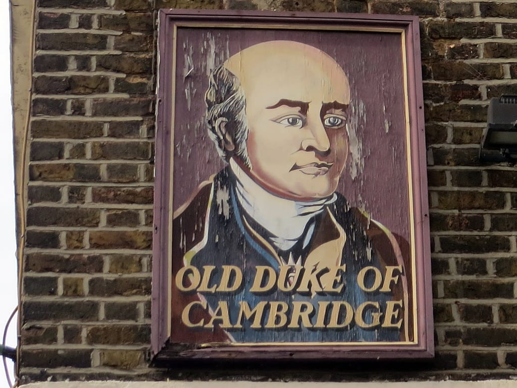 Picture of Old Duke of Cambridge pub sign in Bromley