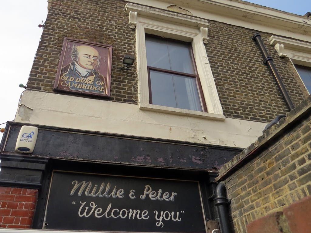 Millie & Peter Welcome You to the Old Duke of Cambridge pub