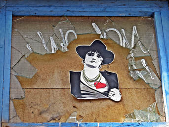 Pete Doherty of the Libertines streetart in Bethnal Green in Up The Bracket Alley