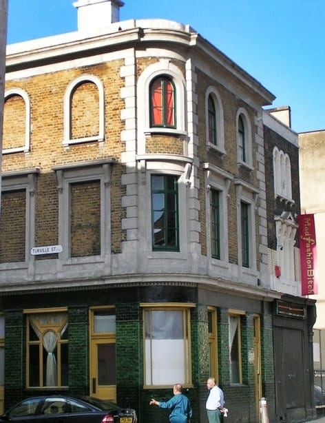 Dolphin pub on Redchurch Street closed in 2002. It is now an upmarket shop called Labour & Wait
