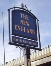 The derelict New England pub in Brentford was previously known as the Duke of York