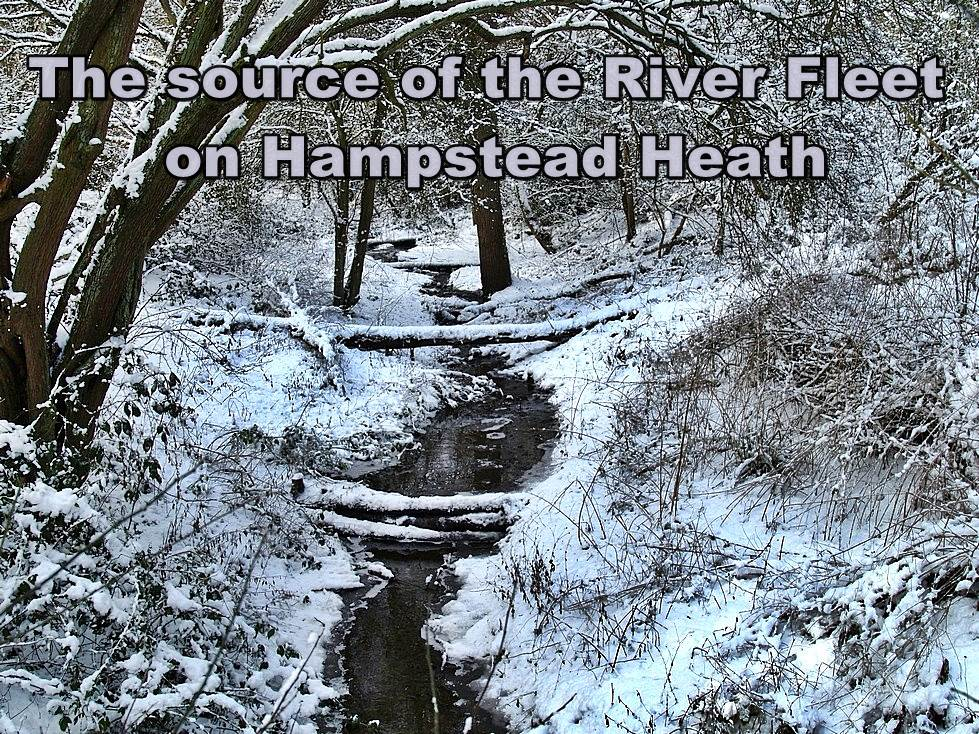 The source of the River Fleet  in Hampstead. London walking tours with Paul Talling routes of lost rivers/canals/docks