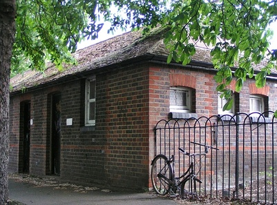 Disused public toilets near Barnes Common, SW13 London