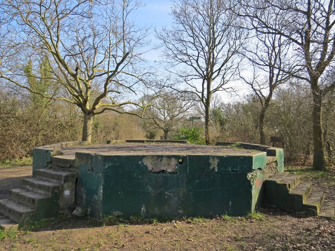 World War 1 gun emplacement on the River peck guided walking tour