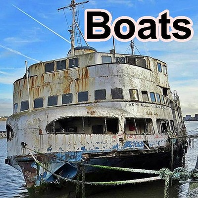 Abandoned and derelict boats in and around the River Thames in London