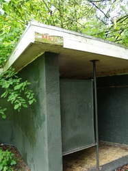 Abandoned toilets in a London park