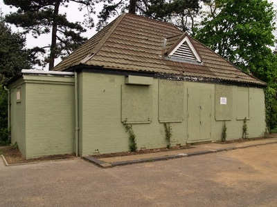 derelict pubic convenience in Bromley South London