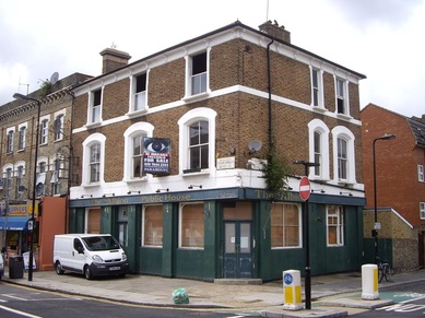 The closed down Albion pub in Acton