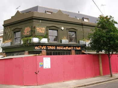 Olive Tree bar(aka Duke of York pub)  in Hammersmith above the buried Stamford Brook