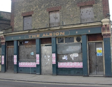 The long closed down Albion in Mile End, E3