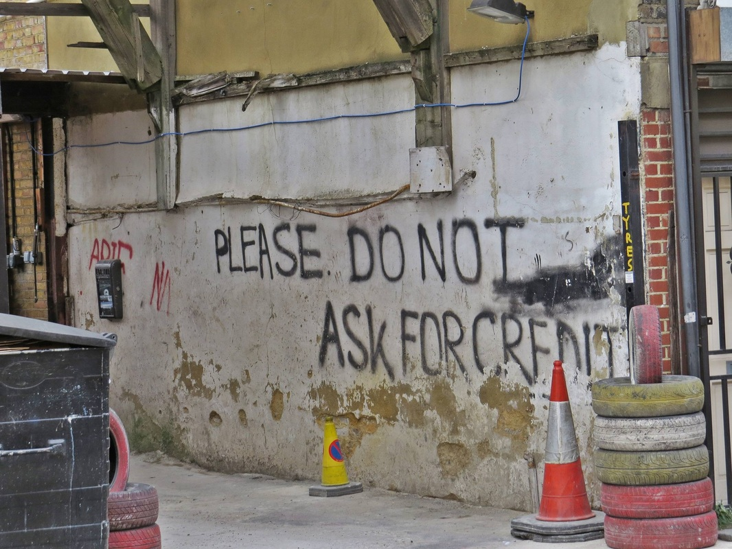 Please do not ask for credit in this garage in Whitechapel