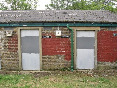 closed public toilets in Clitterhouse Recreation Ground (near old Hendon FC ground)
