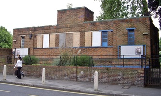 Now demolished public toilet in Brockwell Park, Herne Hill, London.