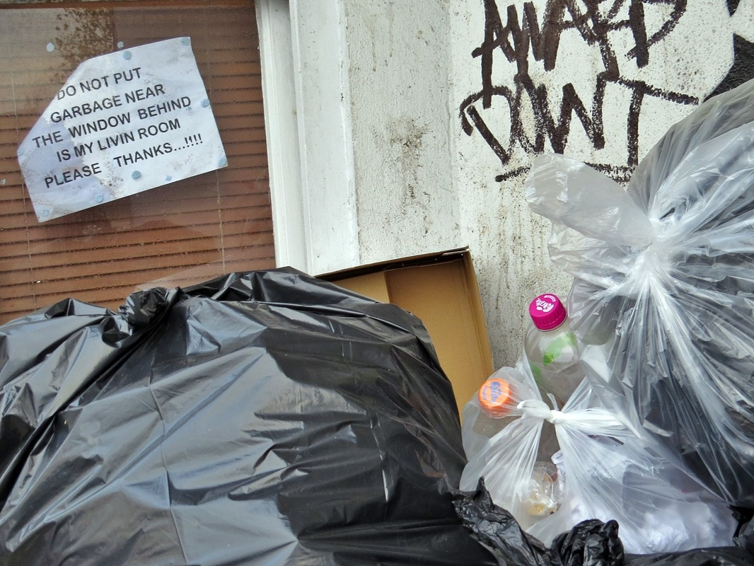 Refuse dumped in Camberwell despite sign requesting not to do so