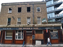 The empty Anchor & Hope pub in Millwall, Isle of Dogs.  E14