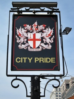 City Pride pub in Isle of Dogs, E14 before demolition