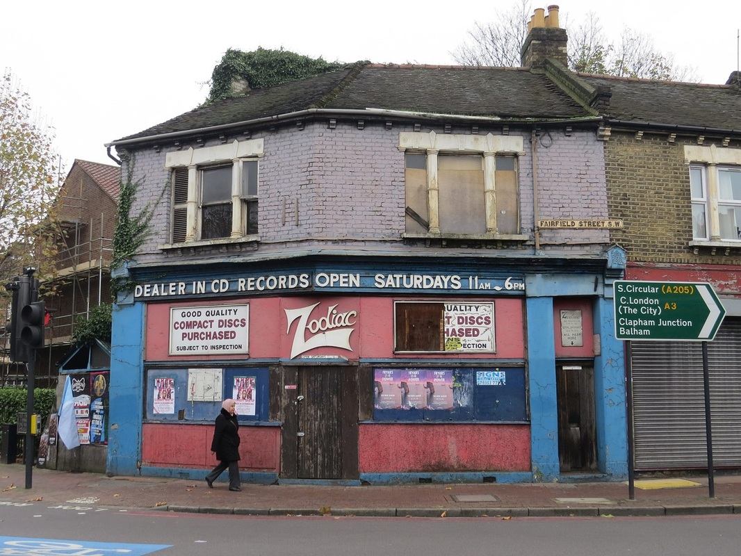 The derelict Zodiac Record shop on the south circular in  Wandsworth, SW18 was only ever open on Saturdays
