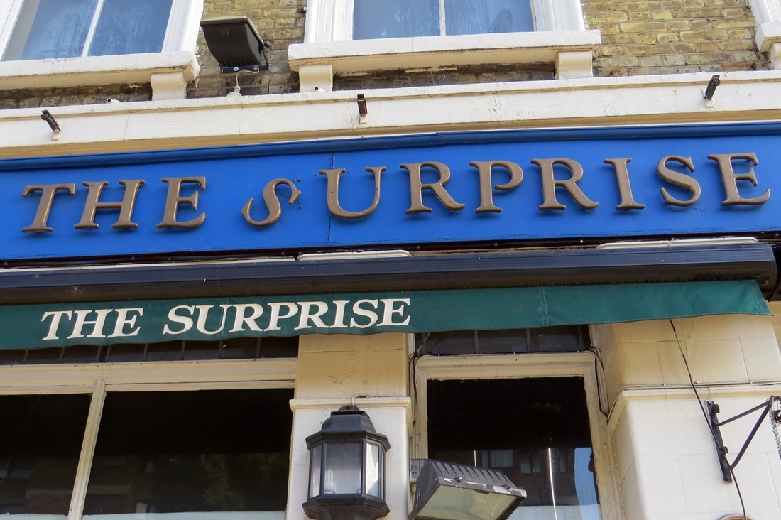 Picture of closed down and derelict Surprise at Pimlico pub on Vauxhall Bridge Rd, SW1