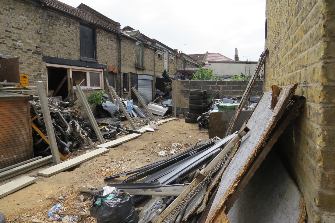 Derelict yard in Forest Gate, E7
