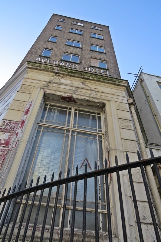 Picture of decaying hotel in West London laying derelict until conversion into a boutique hotel