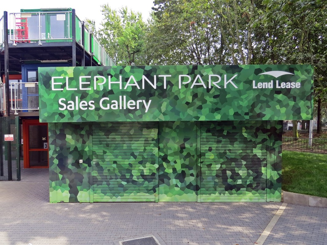 Elephant Park Sales Gallery at the old Heygate Estate at Elephant & Castle