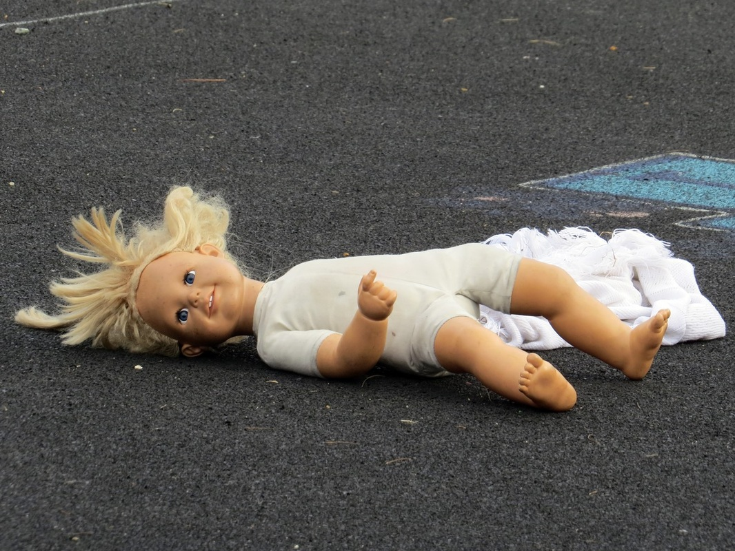 Picture of forlorn abandoned doll on Old Kent Road SE London