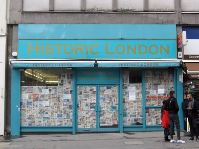 Historic London closed down tourist souvenir shop in Paddington