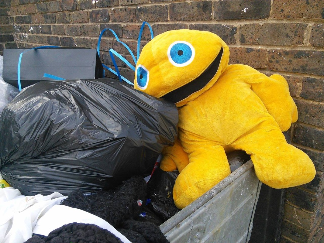 Abandoned Zippy toy from Rainbow in Brixton, London, SW9
