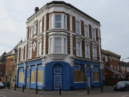 The Closed down Millwall pub Bramcote Arms - Bermondsey SE16 set to become converted into flats