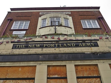 South Lambeth, SW8 - The closed down New Portland Arms